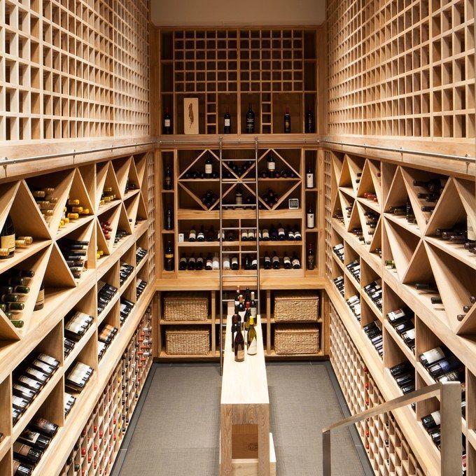 The wine cellar in a Newport Coast, California, home #WineRoom