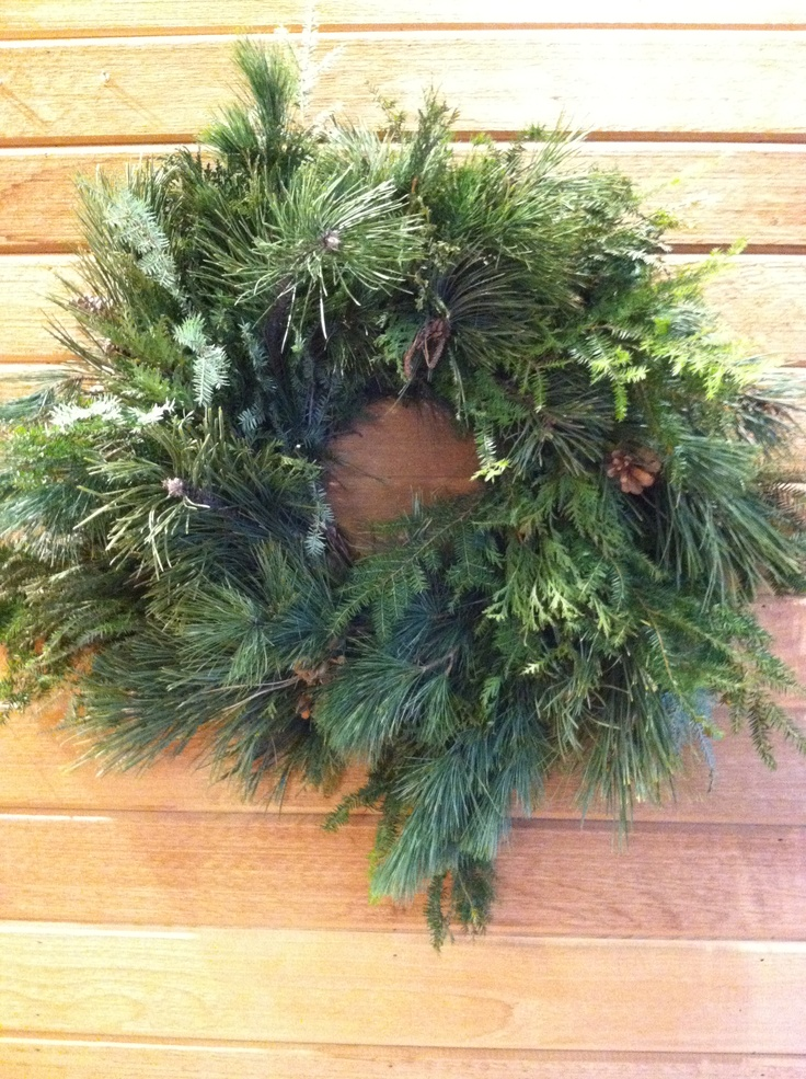 Wreath I made from evergreen trimmings.