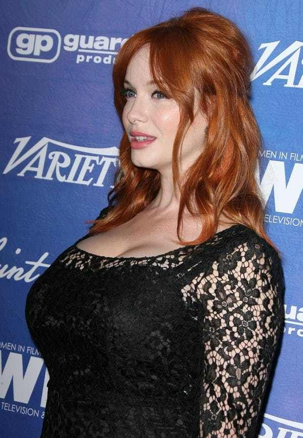 Christina Hendricks Boobs. Because when you think about Christina Hendricks you really can't help but think about her boobs. Christina Hendricks breasts are just as famous as she is. Probably because they are a part of her. A very LARGE part of her. These are a bunch of pictures o...