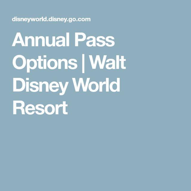 Annual Pass Options   Walt Disney World Resort