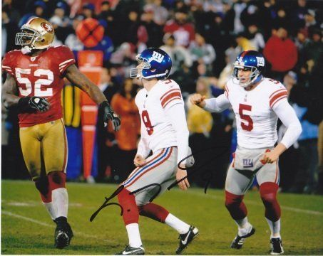 Lawrence Tynes Autographed New York Giants 8x10 Photo - 2× Super Bowl champion (XLII & XLVI) by Real Deal Memorabilia. $57.95. Lawrence Tynes has personally hand signed this 8x10 Photo. This item comes with The Real Deal Memorabilia authenticity sticker on the photo and a Certificate of Authenticity. Get The REAL DEAL!