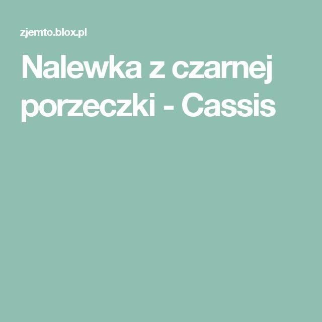 Nalewka z czarnej porzeczki - Cassis