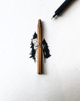 Delicate Ink Drawings on a Miniature Scale by Christian Watson - BlazePress