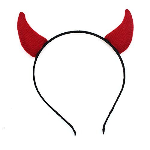 Drawihi Devil Horns Headbands Hair Band Headwear Party Cosplay Costume Accessory