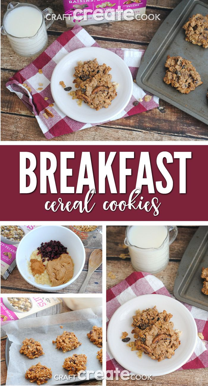 @GreatGrains #ad #spoonfulofgoodness These breakfast cereal cookies are easy to make, delicious and perfect for breakfast or a healthy snack! via @CraftCreatCook1
