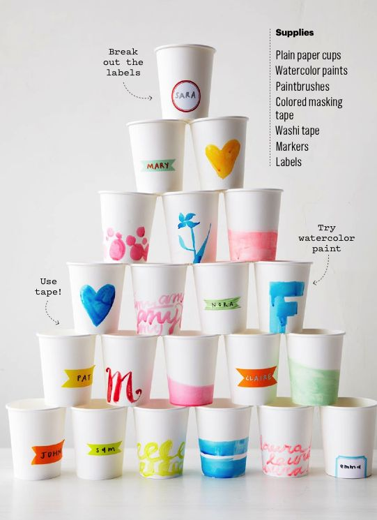 Watercolor Party Cups
