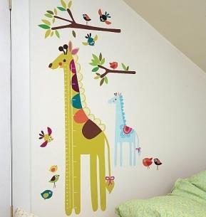 Giraff mätsticka, väggdekor