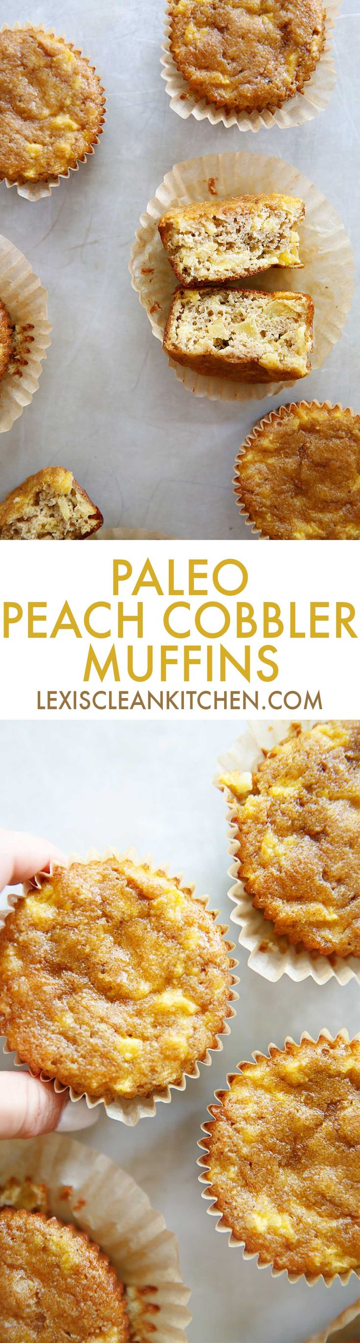 Peach Cobbler Muffins | Lexi's Clean Kitchen