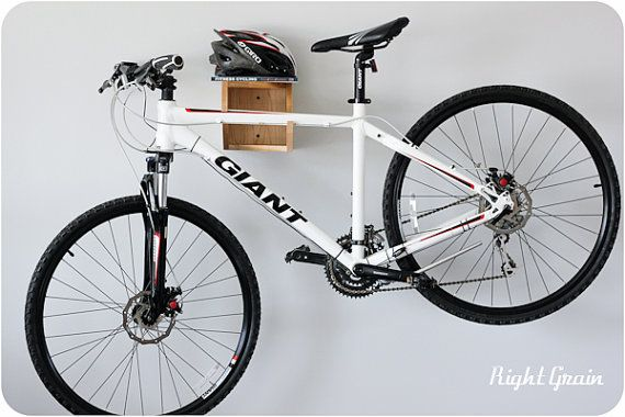 The Balancer Bike Shelf in Natural Maple  Bicycle by RightGrain, $165.00