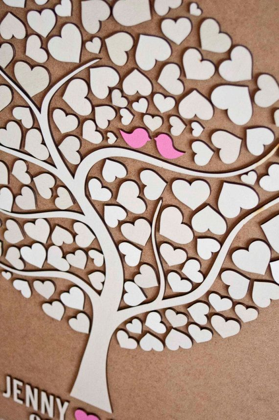 Cyber-Monday SALE 20% !!! (ends Tuesday 29 November, 2016) Coupon code : CYBERMONDAY20 Please include the code in the Apply shop coupon code section, upon check out. A tutorial for this: http://www.etsy.com/help/article/350   3D Wedding Guest Book Alternative Wedding Tree Wood Guest Book Rustic Wedding Guestbook Wedding Gift Tree Of Hearts Leaves  Original design by Totally Salinda. ★ As seen in Grey Likes Weddings, The Natural Wedding Company UK ★  PRODUCT DETAILS: •Custom Wedding 3D Guest…