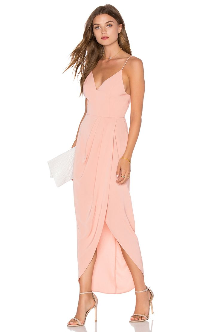 Shona Joy Stellar Drape Dress in Dusty Pink - like this  draped assymetrical  thing going on