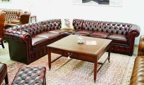 Das klassische Chesterfield Sofa als Eckgarnitur!