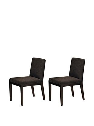50% OFF Onyx Set of 2 Dover Chairs, Espresso