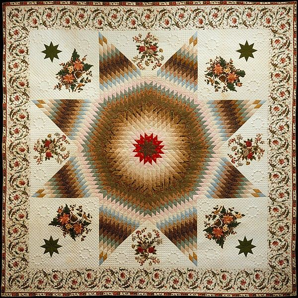 Star of Bethlehem Quilt Date: ca. 1835 Geography: Mid-Atlantic, Maryland, United States Culture: American Medium: Cotton Dimensions: 122 x 122 in. (309.9 x 309.9 cm) Classification: Textiles