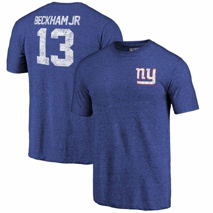 Odell Beckham Jr New York Giants NFL Pro Line by Fanatics Branded Icon Tri-Blend Player Name & Number T-Shirt - Royal