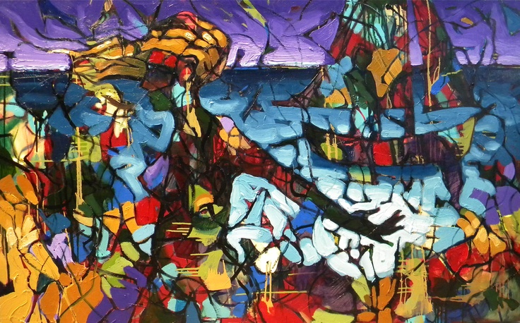 """Sailing to Cartagena, oil on Canvas 40 x 60"""" by William Barnhart a friend of mine and just one of his many amazing creations!  :~)"""