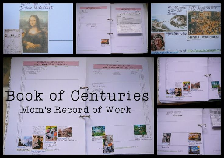 Book of Centuries with free printable