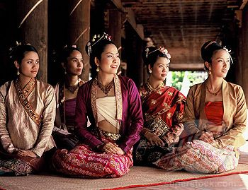 Charming Burmese Apparel, stock photo girls wearing burmese costumes myanmar burma