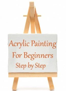 Step by step acrylic painting for beginner artists. What supplies you need, how…