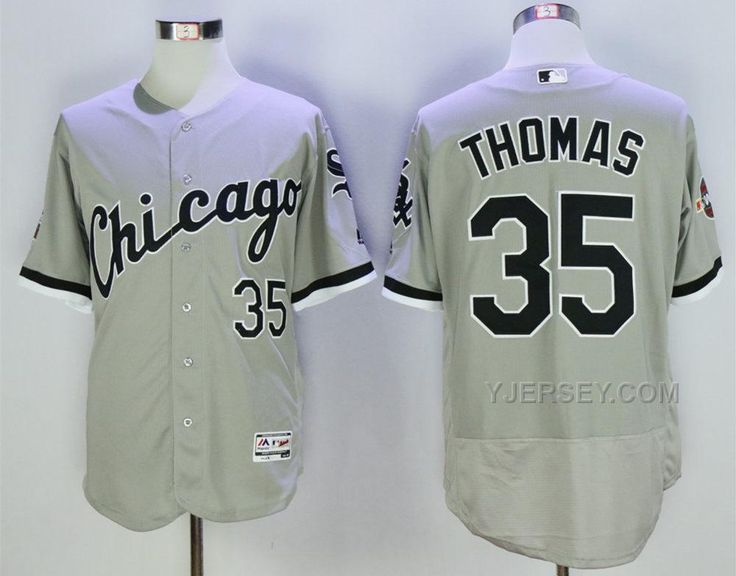 a783763d5 ... Cool Base Replica Jersey at ChicagoTeamStore.com Buy White Sox 35 Frank  Thomas Grey With 2005 World Series Patch Flexbase Jersey from Reliable ...