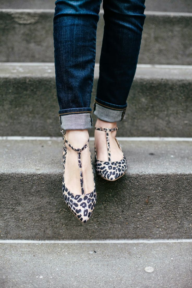 Pointed toe, T-strap flats in a fun leopard print | Sole Society - Ivy