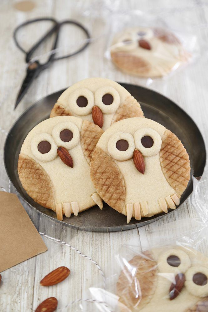 Send your guests home with something sweet and creative, like these tasty butter owl cookies by Heather Baird.