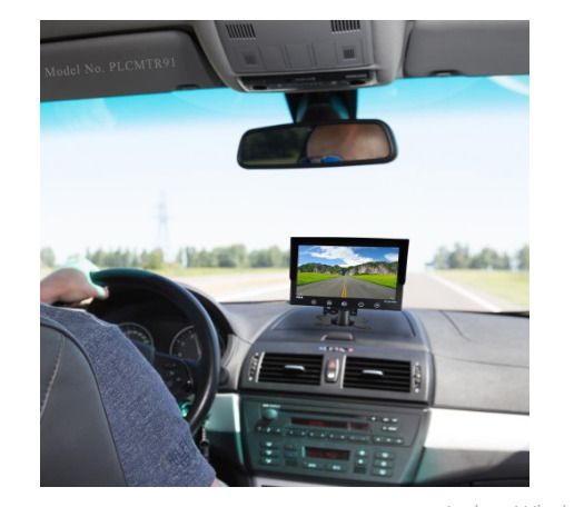 Backup Cameras for Trucks System Waterproof with 9'' LCD Color Monitor and Night #Pyle