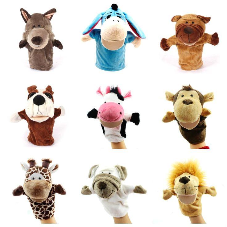 New Arrvial Shaun Con Cừu Rối Tay Động Vật Bé Yêu Thương Búp Bê Cha Mẹ Và con Games Đồ Chơi Đười Ươi Khỉ Hà Mã Tiger
