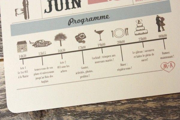 Fun, illustrated invitations (via unbeaujour.fr).