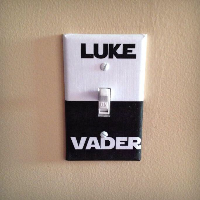 'The force is strong in this light switch' Hahaha!