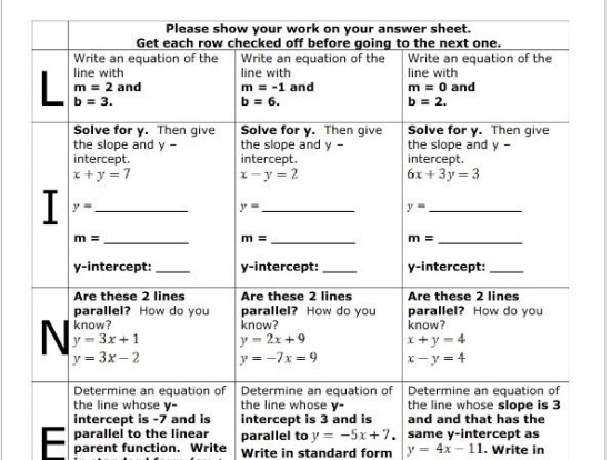 33 Best Writing Linear Equations Images On Pinterest High School