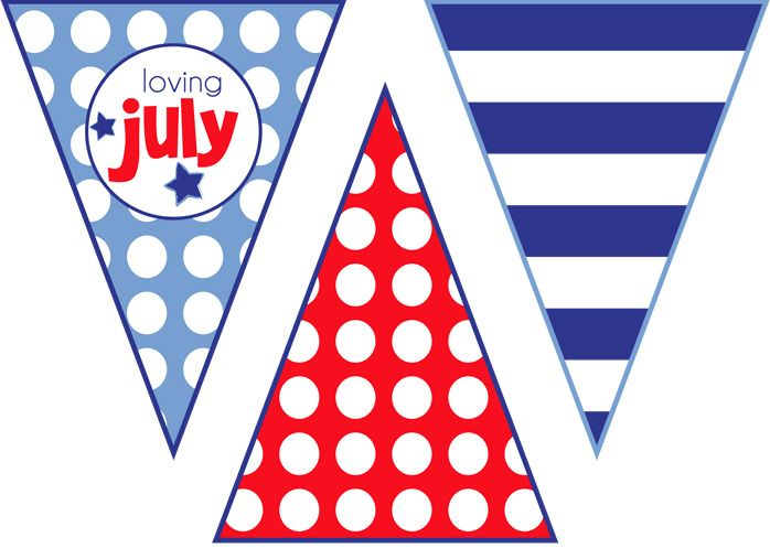 4th july bunting decorations