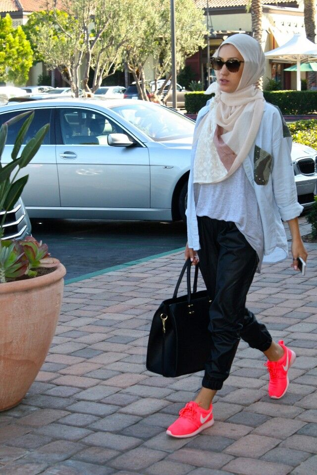 Wearing Hijab with track suit pants | Casual Hijab Fashion