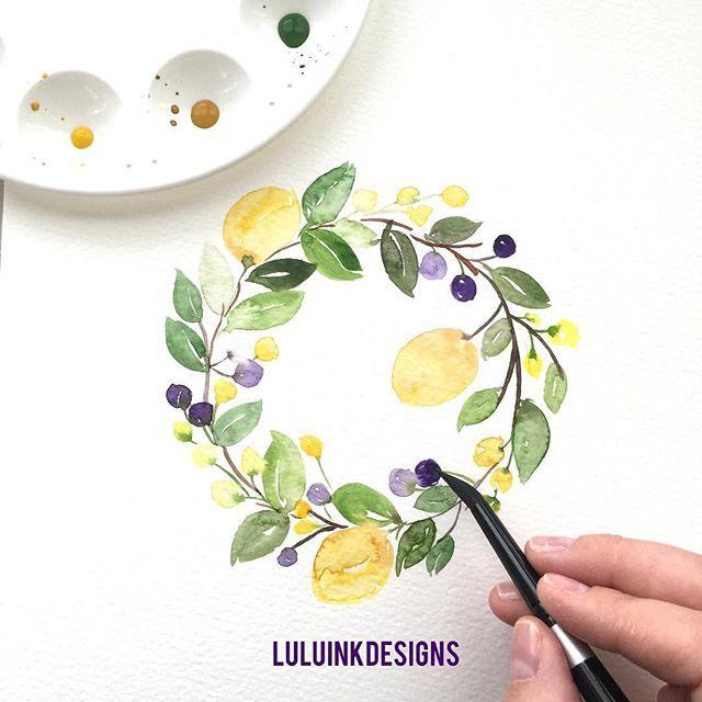 . . . . . . . . . #luluinkdesigns #luluinkdesigns_watercolors #interiordesign…