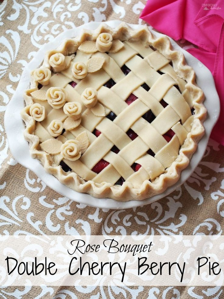 Double Cherry Berry Pie - Comfortably Domestic