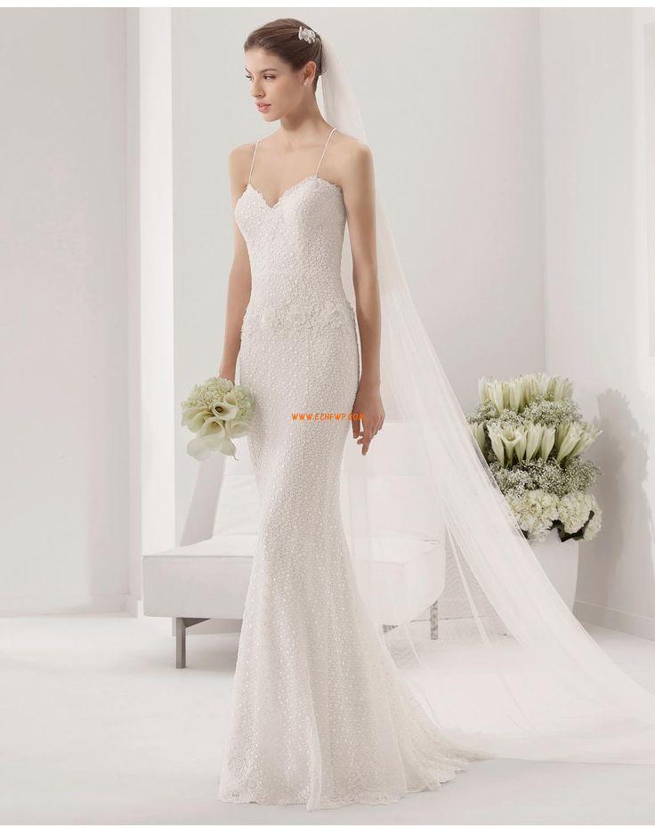 Eglise Fourreau Traîne Mi-Longue robes de mariée 2014