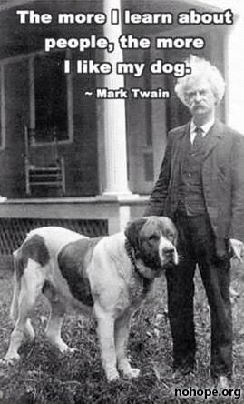 Mark Twain was right about everything. Especially this.