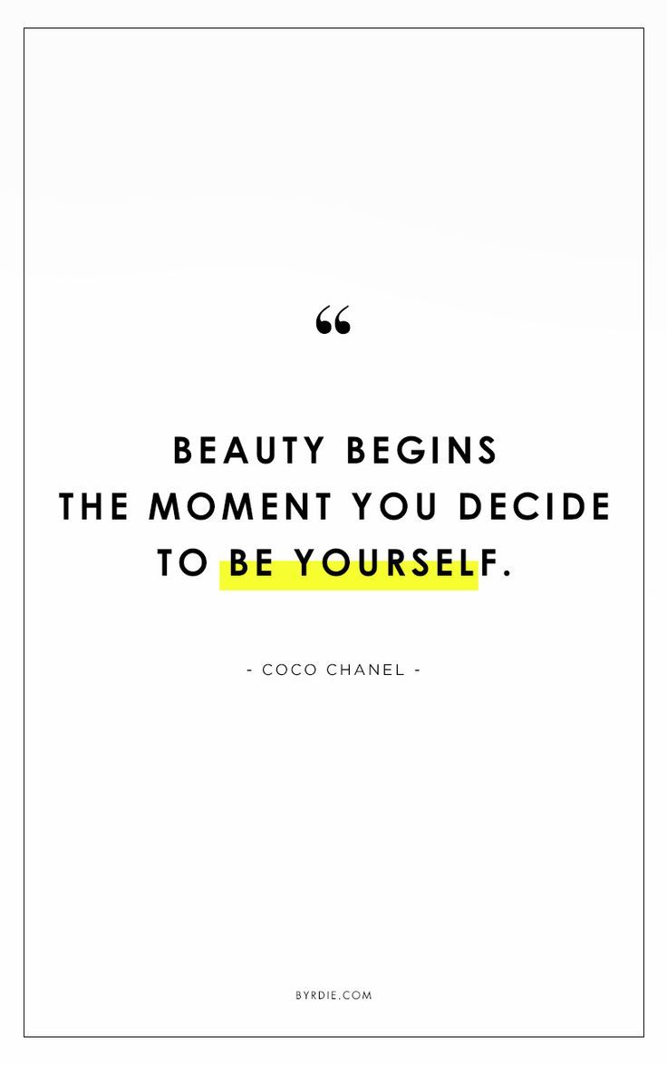 """Beauty begins the moment you decide to be yourself."" // #QuotesToLiveBy"
