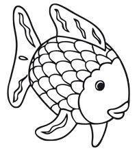 Kleurplaat De mooiste vis van de zee