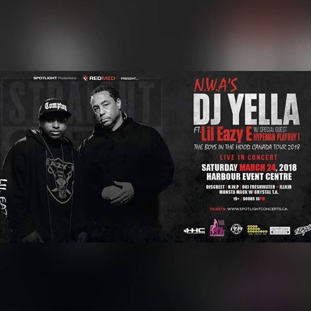 Reposting @angeleyez_143: Spotlight Productions & Where It's At Entertainment Present: DJ Yella (@djyellaofnwa)& Lil Eazy-E (@lileazy_e) Live in concert - Vancouver Saturday, March 24th!  Hit me up for tickets asap before it sells out 😎  #spotlightproductions #harboureventcentre #djyella #nwa #djyellanwa #lileazye #Whereitsatentertainment #tickets #event #party #Whereitsat #Promoter #Artistpromoter #musicpromoter #whereitsatentertainmentpromoter #Hiphop #Music #Rap…