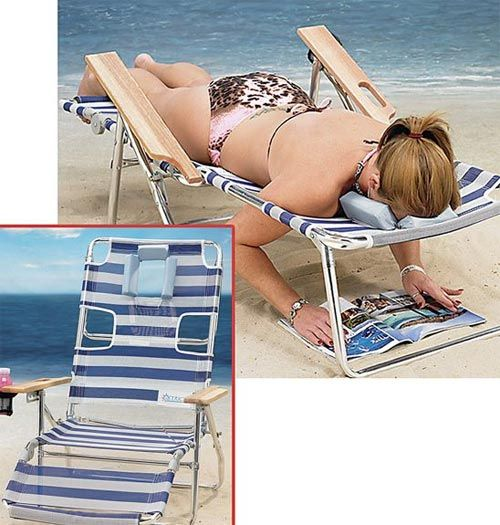 For working on your skin canc--I mean tan!  Hmmm . . . looks like a portable massage table to me ;-)