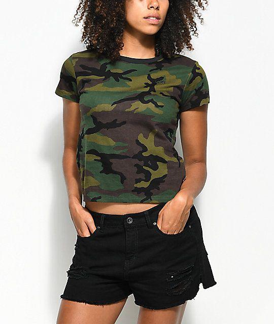 Vans Camo Baby Doll T-Shirt
