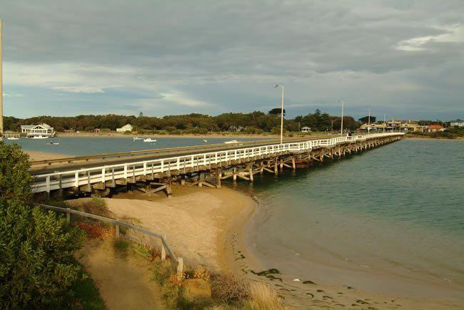 Barwon Heads Bridge linking Barwon Heads and Ocean Grove. Victoria