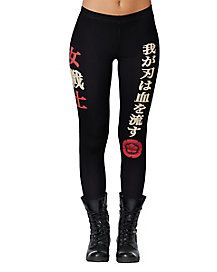 No high kicking Katana costume is complete without these leggings!