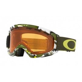 Oakley O Frame 2.0 XS Snow Goggle Silver Shady Trees Army Green frame / Persimmon lens