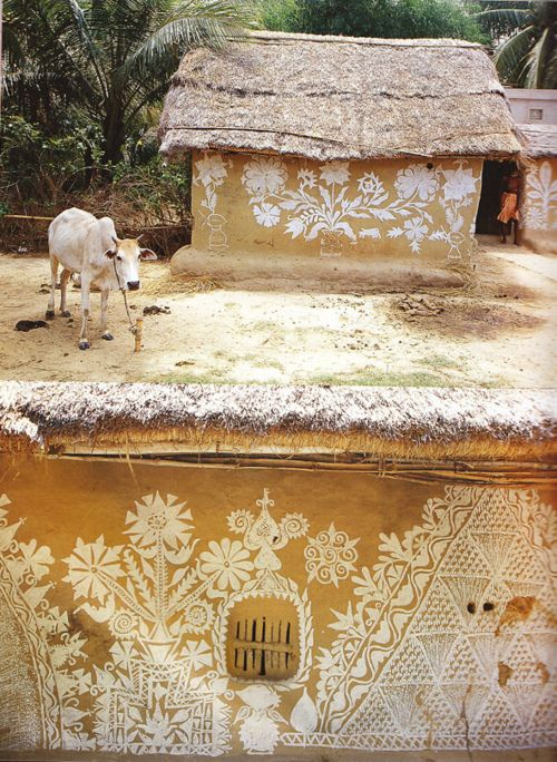 .Indian Interiors, Mud Huts, House Design, Design Interiors, Architecture Interiors, Interiors Design, Painting Wall, Painting Mud, Interiors Ideas