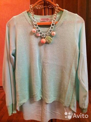 Новый мятный свитер с сюрпризом— фотография №1