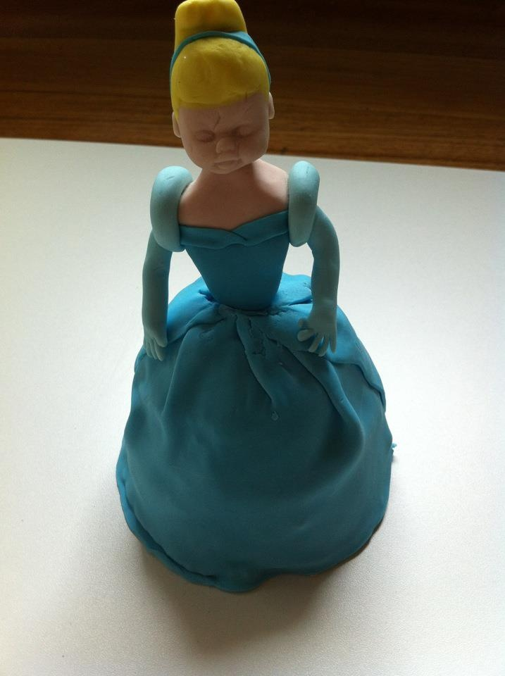 Cinderella cupcake. Was intending to do all the fairy tale princesses but only had the time for one. She came up nice I think.