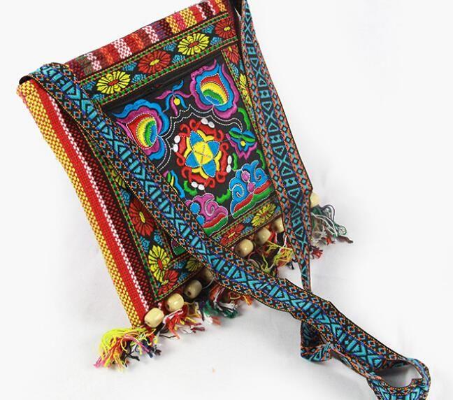 Новый Старинные Вышивки мешок Boho Хобо Хмонг Этнических Покупателей Мешок плеча женщин сумка Вышитые сумки купить на AliExpress