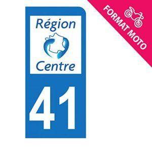 Autocollant Moto immatriculation 41 – Loir et Cher